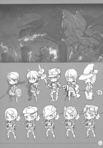 Rating: Safe Score: 8 Tags: chibi h2so4 island_of_horizon monochrome sketch User: Aurelia