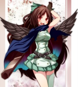 Rating: Safe Score: 19 Tags: reiuji_utsuho s-syogo thighhighs touhou wings User: charunetra