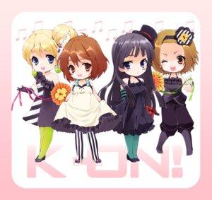 Rating: Safe Score: 14 Tags: akiyama_mio chibi dress heels hirasawa_yui k-on! kotobuki_tsumugi leeori pantyhose skirt_lift tainaka_ritsu User: charunetra