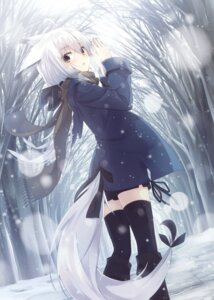 Rating: Questionable Score: 59 Tags: animal_ears nagishiro_mito tail thighhighs User: Twinsenzw