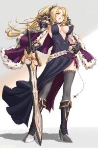 Rating: Safe Score: 42 Tags: armor dress erect_nipples futami_(mg42fw190d) heels no_bra princess_connect!_re:dive sword thighhighs User: Mr_GT