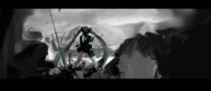 Rating: Safe Score: 30 Tags: armor dead_space gun hatsune_miku landscape mivit vocaloid wallpaper User: Masutaniyan