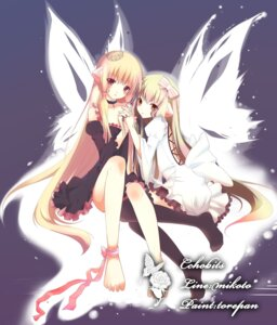Rating: Safe Score: 34 Tags: chii chobits dress freya nana_mikoto thighhighs toreban wings User: charunetra