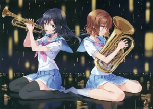 Rating: Safe Score: 41 Tags: fixed hibike!_euphonium kousaka_reina oumae_kumiko see_through seifuku thighhighs tiv User: fireattack