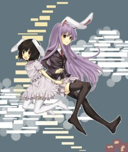 Rating: Safe Score: 6 Tags: aki animal_ears bunny_ears inaba_tewi reisen_udongein_inaba thighhighs touhou User: Nekotsúh