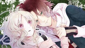 Rating: Safe Score: 9 Tags: diabolik_lovers komori_yui sakamaki_raito satoi wallpaper User: gnarf1975