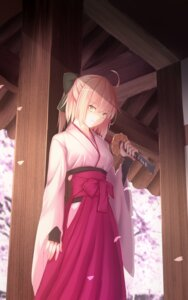 Rating: Safe Score: 30 Tags: bakanoe fate/grand_order japanese_clothes sakura_saber sword User: Mr_GT