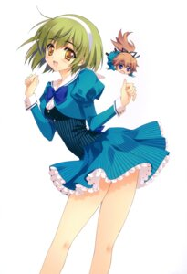 Rating: Safe Score: 47 Tags: carnelian chibi mix! mutsuki_aoi seifuku suga_ran suwa_ranmaru trap User: Riven
