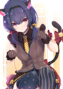 Rating: Safe Score: 34 Tags: animal_ears morino_rinze nekomimi tail the_idolm@ster the_idolm@ster_shiny_colors thighhighs tutinako User: yanis
