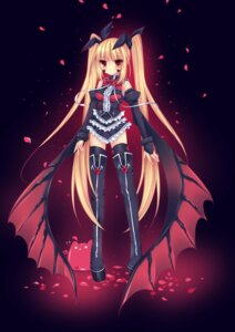 Rating: Safe Score: 53 Tags: blazblue duji_amo gothic_lolita lolita_fashion rachel_alucard thighhighs wings User: blooregardo