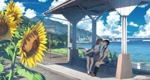 Rating: Safe Score: 36 Tags: kantoku landscape seifuku yuri User: kotorilau