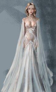 Rating: Questionable Score: 58 Tags: cleavage dress no_bra nopan see_through ydiya User: Darkthought75