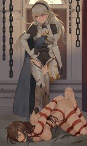 Rating: Questionable Score: 50 Tags: armor bondage fire_emblem kamui_(fire_emblem) lauren_(franky62009) naked_ribbon rainnear thighhighs yuri User: Mr_GT