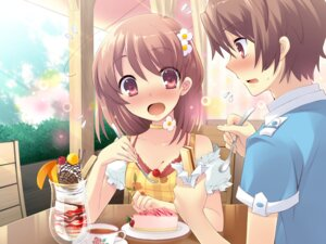 Rating: Safe Score: 23 Tags: flyable_heart game_cg inaba_yui ito_noizi katsuragi_shou unisonshift User: Radioactive