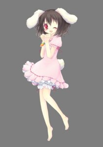 Rating: Safe Score: 13 Tags: animal_ears inaba_tewi tail toshitokiko touhou transparent_png User: charunetra