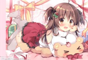 Rating: Safe Score: 67 Tags: cocoa_(pan_no_mimi) pan pan_no_mimi sweater thighhighs User: kiyoe