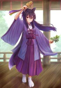 Rating: Safe Score: 8 Tags: animal_ears iroha_(iroha_matsurika) japanese_clothes kitsune miko tail User: ryoga828