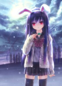 Rating: Safe Score: 47 Tags: animal_ears bunny_ears goto-p reisen_udongein_inaba seifuku thighhighs touhou User: fireattack