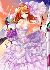 Rating: Questionable Score: 46 Tags: animal_ears cleavage dress fatke wedding_dress User: fairyren