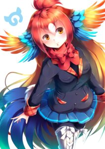 Rating: Safe Score: 17 Tags: kanzakietc kemono_friends pantyhose red_junglefowl tail thighhighs wings User: Mr_GT