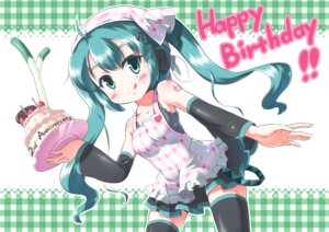 Rating: Safe Score: 6 Tags: hatsune_miku morujii thighhighs vocaloid User: Radioactive