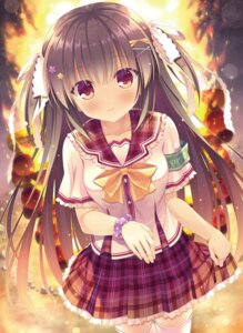 Rating: Questionable Score: 58 Tags: seifuku skirt_lift takano_yuki thighhighs User: Mr_GT