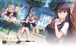 Rating: Safe Score: 32 Tags: asamori_mitsuki boku_no_mirai_wa_koi_to_kakin_to._~charge_to_the_future~ business_suit kitami_rio kurebayashi_noe mahara_shiori marui niro nylon saionji_nana seifuku sonora thighhighs wataya_azusa User: Radioactive