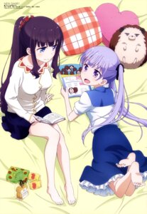 Rating: Safe Score: 103 Tags: feet kikuchi_ai new_game! suzukaze_aoba takimoto_hifumi User: drop