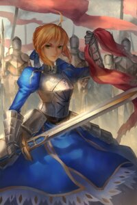 Rating: Safe Score: 17 Tags: armor dress fate/stay_night kirino_(codec007) saber sword User: Mr_GT