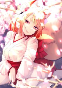 Rating: Safe Score: 23 Tags: animal_ears chita_(ketchup) japanese_clothes kitsune signed tail User: charunetra