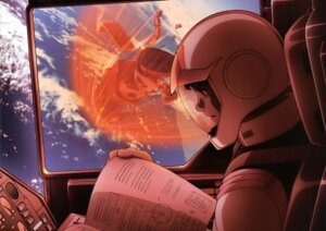 Rating: Safe Score: 2 Tags: amuro_ray gundam mecha mobile_suit_gundam ms-06_zaku_ii User: Radioactive
