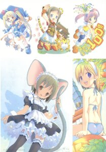 Rating: Safe Score: 14 Tags: animal_ears bikini dress maid pop swimsuits tail thighhighs User: petopeto