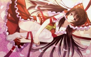 Rating: Questionable Score: 49 Tags: bakanoe hakurei_reimu pantsu see_through thighhighs touhou User: sylver650