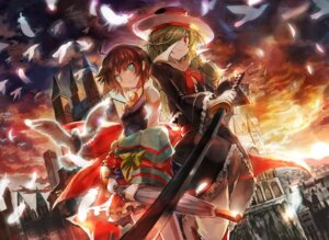 Rating: Safe Score: 3 Tags: asuka_(moto) dress seifuku sword User: Radioactive
