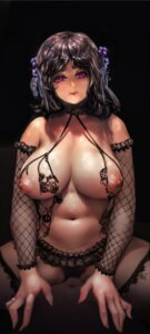 Rating: Questionable Score: 50 Tags: breasts fishnets lapaco lingerie nipples pantsu thighhighs User: BattlequeenYume