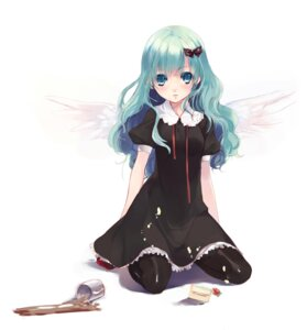Rating: Safe Score: 66 Tags: cream dress itou_nanami pantyhose wings User: Nekotsúh