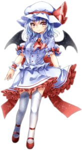 Rating: Safe Score: 25 Tags: maguro_(gulen-x) remilia_scarlet stockings thighhighs touhou wings User: Nekotsúh
