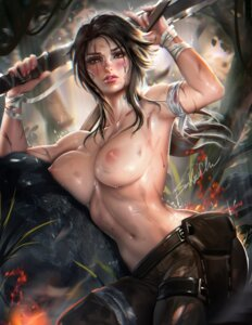 Rating: Questionable Score: 110 Tags: bandages blood lara_croft nipples sakimichan tomb_raider topless weapon User: KotarouInumimi