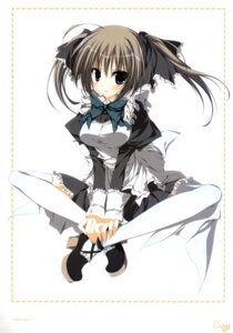 Rating: Safe Score: 23 Tags: inugami_kira maid seitokai_no_ichizon shiina_minatsu thighhighs User: WtfCakes