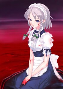 Rating: Safe Score: 22 Tags: blood izayoi_sakuya rasukaru touhou User: Radioactive