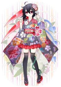 Rating: Safe Score: 28 Tags: houjuu_nue kimono suzume_miku thighhighs touhou User: Mr_GT