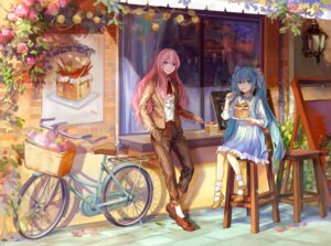 Rating: Safe Score: 35 Tags: dress hatsune_miku heels kirayoci megurine_luka vocaloid User: Mr_GT
