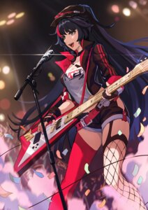 Rating: Safe Score: 30 Tags: benghuai_xueyuan fishnets guitar kai1up raiden_mei stockings thighhighs User: Mr_GT