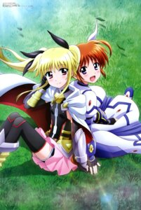 Rating: Safe Score: 34 Tags: bike_shorts fate_testarossa kawamoto_miyoko mahou_shoujo_lyrical_nanoha mahou_shoujo_lyrical_nanoha_reflection takamachi_nanoha thighhighs User: drop