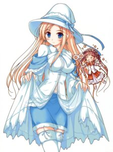 Rating: Safe Score: 54 Tags: carina_verritti dress ko~cha minette shukufuku_no_campanella thighhighs witch User: midzki