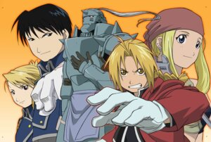 Rating: Safe Score: 3 Tags: alphonse_elric edward_elric fullmetal_alchemist riza_hawkeye roy_mustang winry_rockbell User: charunetra