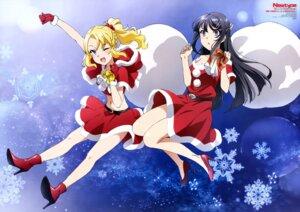 Rating: Safe Score: 52 Tags: christmas dress heels itou_kaori sakurajima_mai seishun_buta_yarou_series skirt_lift toyohama_nodoka User: drop