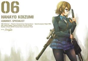 Rating: Safe Score: 37 Tags: gun hiroki_ree koizumi_hanayo love_live! megane pantyhose seifuku User: Radioactive