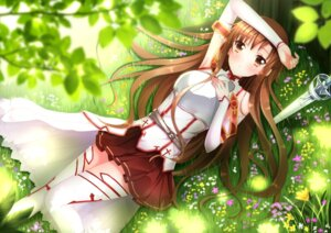 Rating: Safe Score: 54 Tags: asuna_(sword_art_online) sword_art_online swordsouls thighhighs User: 椎名深夏