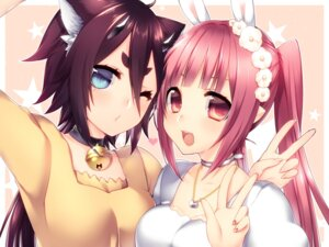 Rating: Safe Score: 19 Tags: animal_ears bunny_ears cleavage horns nekomimi phantasy_star_online_2 User: Mr_GT